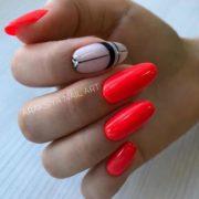 коралловый дизайн ногтей идеи геометрия стиль