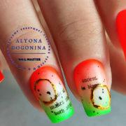 летний маникюр 2021 фото красивый дизайн ногтей надписи